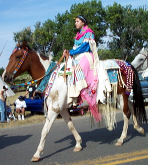 Crow lady parading 2003