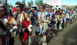 Crow men dancers 2004